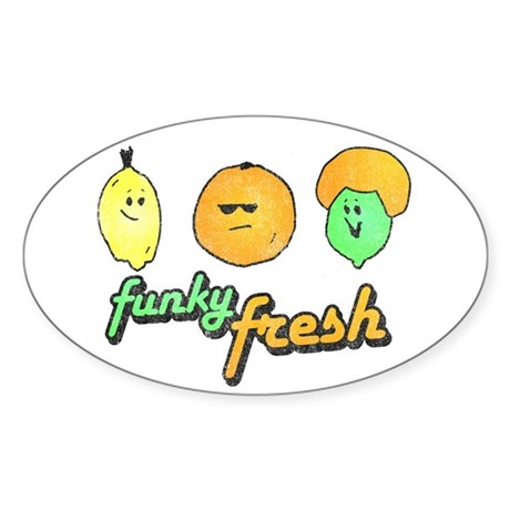 Funky Fresh Oval Sticker