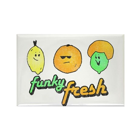 Funky Fresh Rectangle Magnet