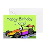 Racecar Birthday Greeting Cards (Pk of 10)