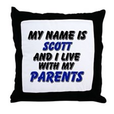 my name is scott and I live with my parents Throw
