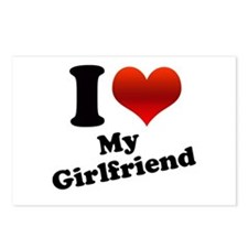 I Heart My Girlfriend Postcards (Package of 8)