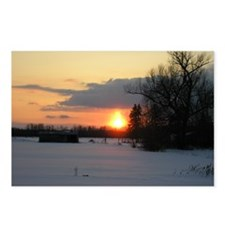 Winter Sunset 0025 Postcards (Package of 8)