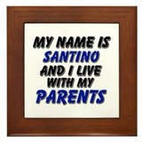 my name is santino and I live with my parents Fram