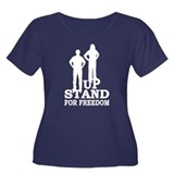 Stand Up For Freedom Women's Plus Size Scoop Neck