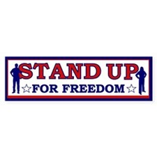 Stand Up For Freedom Bumper Sticker (10 pk)