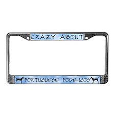 Crazy About Portuguese Podengo License Plate Frame