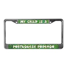 My Kid Portuguese Podengo License Plate Frame