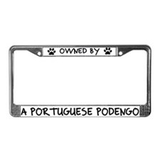 Owned by a Portuguese Podengo License Plate Frame