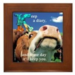 Keep a Diary Framed Tile
