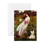 Windflowers / Scottie (w) Greeting Card