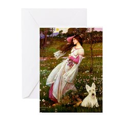 Windflowers / Scottie (w) Greeting Cards (Pk of 10