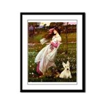 Windflowers / Scottie (w) Framed Panel Print