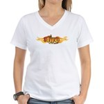 On Fire for the Lord Women's V-Neck T-Shirt