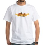 On Fire for the Lord White T-Shirt