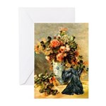 Vase / Scottie (blk) Greeting Cards (Pk of 10)