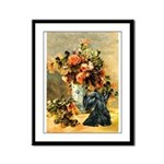 Vase / Scottie (blk) Framed Panel Print