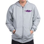 On Fire for the Lord Purple Zip Hoodie