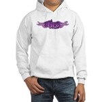 On Fire for the Lord Purple Hooded Sweatshirt