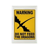 Do Not Feed the Dragons Rectangle Magnet
