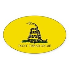 Gadsden Flag Oval Bumper Decal