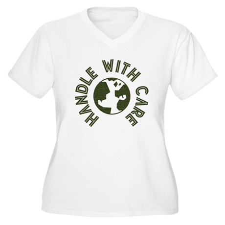 Handle With Care Women's Plus Size V-Neck T-Shirt