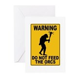Do Not Feed the Orcs Greeting Cards (Pk of 20)