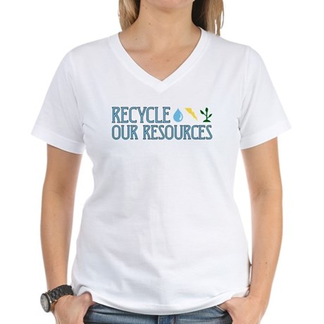 Recycle Our Resources Women's V-Neck T-Shirt