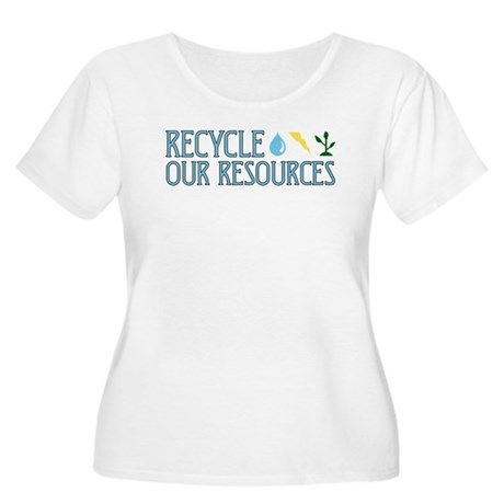Recycle Our Resources Women's Plus Size Scoop Neck