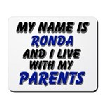 my name is ronda and I live with my parents Mousep