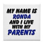 my name is ronda and I live with my parents Tile C