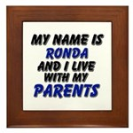 my name is ronda and I live with my parents Framed