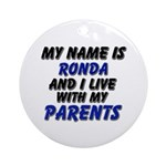 my name is ronda and I live with my parents Orname