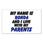 my name is ronda and I live with my parents Sticke