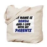 my name is ronda and I live with my parents Tote B