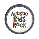 Autistic Kids Rock Wall Clock