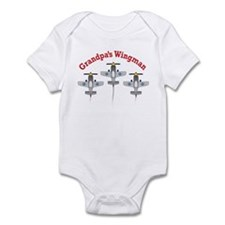 Aviation Grandpa's Wingman Infant Bodysuit
