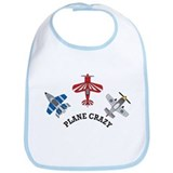 Aviation Plane Crazy Bib