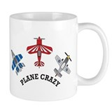 Aviation Plane Crazy Small Mug