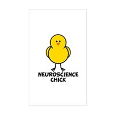 Neuroscience Chick Rectangle Decal