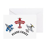 Aviation Plane Crazy Greeting Cards (Pk of 10)