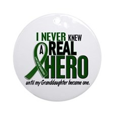 REAL HERO 2 Granddaughter LiC Ornament (Round)