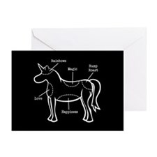 Unicorn Parts Greeting Cards (Pk of 20)