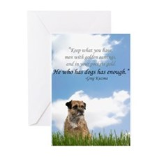 He who has dogs has enough Greeting Cards (Pk of 2
