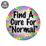 "Cure Normal 3.5"" Button (10 pack)"
