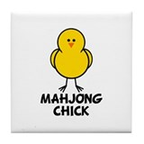Mahjong Chick Tile Coaster