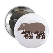 "Tapir Family A 2.25"" Button"