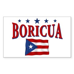 Puerto rican pride Rectangle Sticker 10 pk)