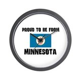 Proud To Be From Be MINNESOTA Wall Clock