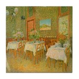 Van Gogh Interior Restaurant Tile Coaster