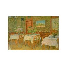 Van Gogh Interior of a Restaurant Rectangle Magnet